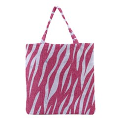 SKIN3 WHITE MARBLE & PINK DENIM Grocery Tote Bag