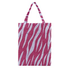 Skin3 White Marble & Pink Denim Classic Tote Bag by trendistuff