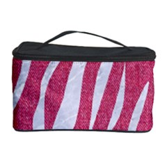 SKIN3 WHITE MARBLE & PINK DENIM Cosmetic Storage Case