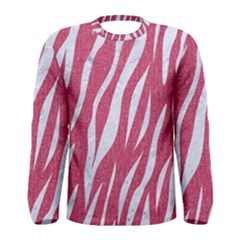 SKIN3 WHITE MARBLE & PINK DENIM Men s Long Sleeve Tee