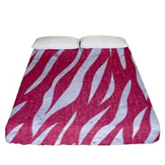 SKIN3 WHITE MARBLE & PINK DENIM Fitted Sheet (California King Size)