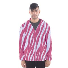 SKIN3 WHITE MARBLE & PINK DENIM Hooded Windbreaker (Men)