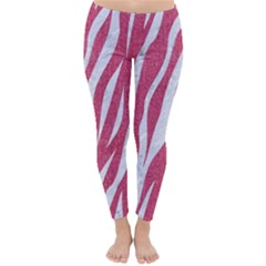 SKIN3 WHITE MARBLE & PINK DENIM Classic Winter Leggings