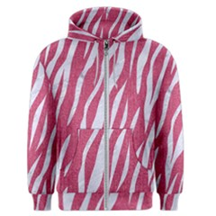 SKIN3 WHITE MARBLE & PINK DENIM Men s Zipper Hoodie