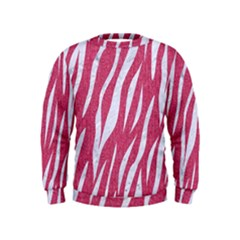 SKIN3 WHITE MARBLE & PINK DENIM Kids  Sweatshirt