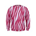 SKIN3 WHITE MARBLE & PINK DENIM Kids  Sweatshirt View1