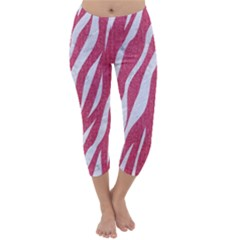 SKIN3 WHITE MARBLE & PINK DENIM Capri Winter Leggings