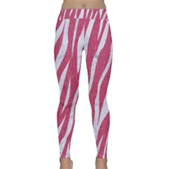 SKIN3 WHITE MARBLE & PINK DENIM Classic Yoga Leggings