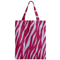 SKIN3 WHITE MARBLE & PINK DENIM Zipper Classic Tote Bag