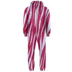 SKIN3 WHITE MARBLE & PINK DENIM Hooded Jumpsuit (Men)