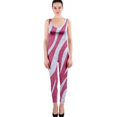 SKIN3 WHITE MARBLE & PINK DENIM One Piece Catsuit