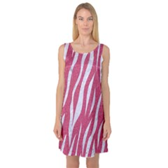 SKIN3 WHITE MARBLE & PINK DENIM Sleeveless Satin Nightdress
