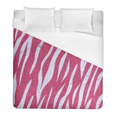 SKIN3 WHITE MARBLE & PINK DENIM Duvet Cover (Full/ Double Size)