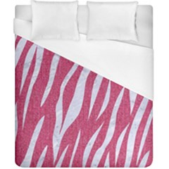 SKIN3 WHITE MARBLE & PINK DENIM Duvet Cover (California King Size)
