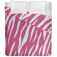 SKIN3 WHITE MARBLE & PINK DENIM Duvet Cover Double Side (California King Size)