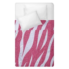 SKIN3 WHITE MARBLE & PINK DENIM Duvet Cover Double Side (Single Size)