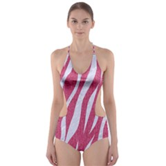 SKIN3 WHITE MARBLE & PINK DENIM Cut-Out One Piece Swimsuit