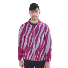 SKIN3 WHITE MARBLE & PINK DENIM Windbreaker (Men)