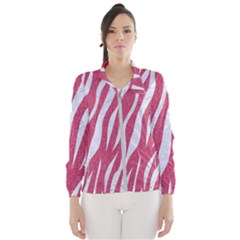 SKIN3 WHITE MARBLE & PINK DENIM Windbreaker (Women)