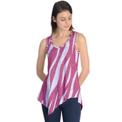 SKIN3 WHITE MARBLE & PINK DENIM Sleeveless Tunic