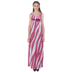 SKIN3 WHITE MARBLE & PINK DENIM Empire Waist Maxi Dress