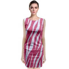 SKIN3 WHITE MARBLE & PINK DENIM Classic Sleeveless Midi Dress