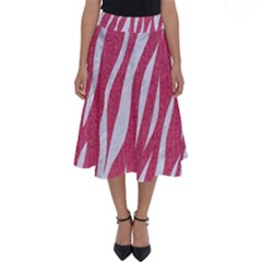 SKIN3 WHITE MARBLE & PINK DENIM Perfect Length Midi Skirt