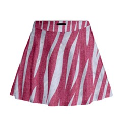 SKIN3 WHITE MARBLE & PINK DENIM Mini Flare Skirt