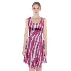 Skin3 White Marble & Pink Denim Racerback Midi Dress
