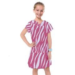 SKIN3 WHITE MARBLE & PINK DENIM Kids  Drop Waist Dress