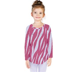 SKIN3 WHITE MARBLE & PINK DENIM Kids  Long Sleeve Tee