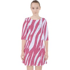 SKIN3 WHITE MARBLE & PINK DENIM Pocket Dress