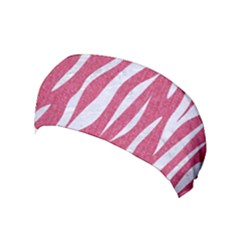 SKIN3 WHITE MARBLE & PINK DENIM Yoga Headband