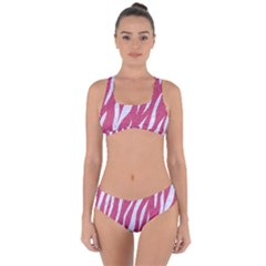 SKIN3 WHITE MARBLE & PINK DENIM Criss Cross Bikini Set