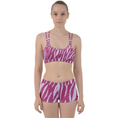 Skin3 White Marble & Pink Denim Women s Sports Set