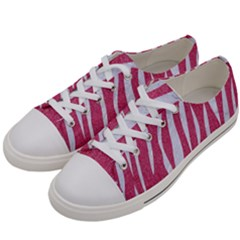SKIN3 WHITE MARBLE & PINK DENIM Women s Low Top Canvas Sneakers