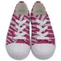 SKIN3 WHITE MARBLE & PINK DENIM Kids  Low Top Canvas Sneakers View1