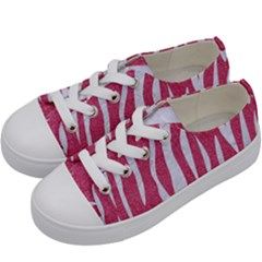 SKIN3 WHITE MARBLE & PINK DENIM Kids  Low Top Canvas Sneakers