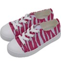 SKIN3 WHITE MARBLE & PINK DENIM Kids  Low Top Canvas Sneakers View2