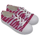 SKIN3 WHITE MARBLE & PINK DENIM Kids  Low Top Canvas Sneakers View3