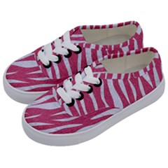 SKIN3 WHITE MARBLE & PINK DENIM Kids  Classic Low Top Sneakers