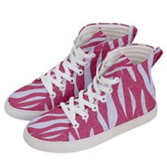SKIN3 WHITE MARBLE & PINK DENIM Women s Hi-Top Skate Sneakers