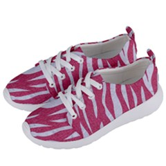 SKIN3 WHITE MARBLE & PINK DENIM Women s Lightweight Sports Shoes