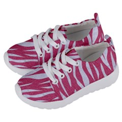 SKIN3 WHITE MARBLE & PINK DENIM Kids  Lightweight Sports Shoes