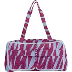 SKIN3 WHITE MARBLE & PINK DENIM Multi Function Bag