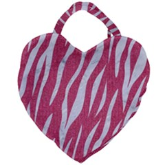Skin3 White Marble & Pink Denim Giant Heart Shaped Tote