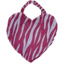 SKIN3 WHITE MARBLE & PINK DENIM Giant Heart Shaped Tote View1