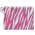 SKIN3 WHITE MARBLE & PINK DENIM Canvas Cosmetic Bag (XXL) View1