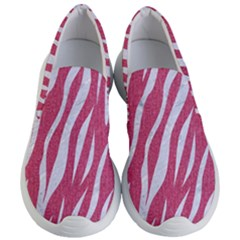 SKIN3 WHITE MARBLE & PINK DENIM Women s Lightweight Slip Ons