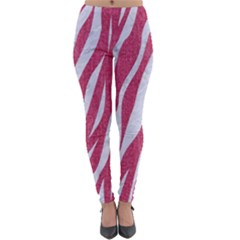 SKIN3 WHITE MARBLE & PINK DENIM Lightweight Velour Leggings